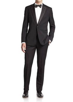 Armani Collezioni - Virgin Wool Tuxedo Suit