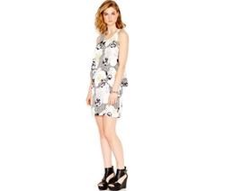 Bar III  - Floral-Print Popover Dress