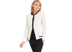 Calvin Klein - Colorblocked Peplum Jacket