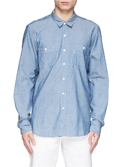 Kitsuné   - Cotton Chambray Worker Shirt