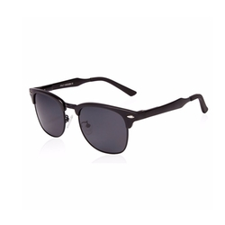 Sungait - Classic Half Frame Clubmaster Sunglasses