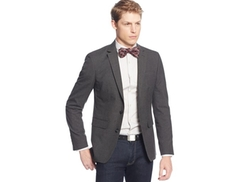Bar III  - Charcoal Neat Slim-Fit Evening Jacket