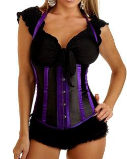 Red Extend  - Womens Halter Corset w/ G-String