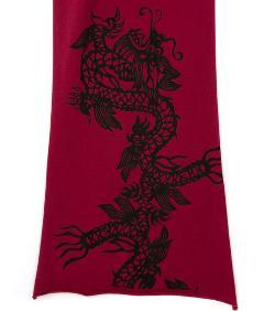 Cyberoptix tie lab - chinese dragon pima scarf