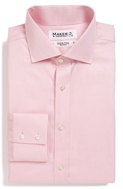 Maker & Company - Tailored Fit Solid Dress Shirt