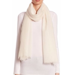 Saks Fifth Avenue Collection - Fringed Cashmere & Silk Scarf