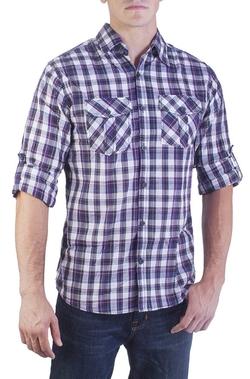Vertical Sport - Plaid Roll-Up Sleeve Shirt