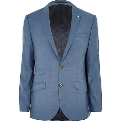 River Island - Light Blue Slim Suit Jacket