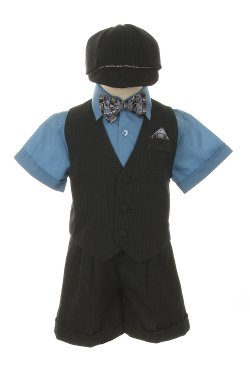 SK - Dress Shorts Suit Tuxedo Outfit Set