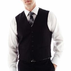 Arrow - Black Herringbone Vest