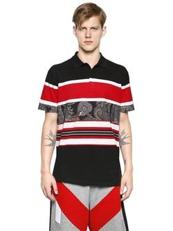 Givenchy - Stripes Cotton Piqué Polo Shirt
