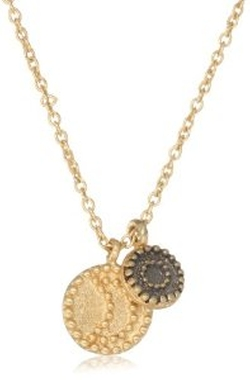 Satya Jewelry - Celestial Gold-Plated Sun and Moon Pendant Necklace