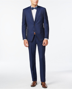 Tallia - Herringbone Slim-Fit Suit