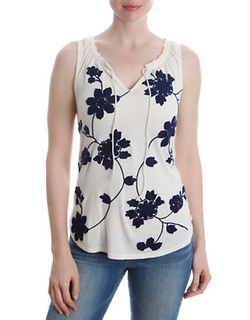 Lucky Brand  - Floral Print Top
