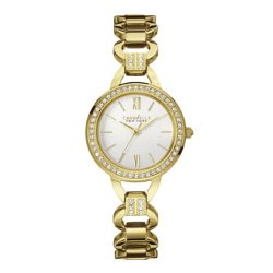 Caravelle New York - Womens Crystal-Accent Open Link Bracelet Watch