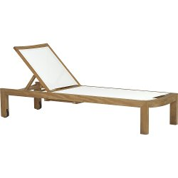 Crate and Barrel - Regatta Mesh Chaise Lounge Chair