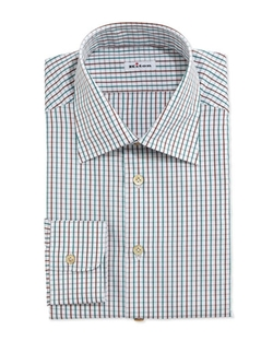Kiton   - Graph-Check Dress Shirt
