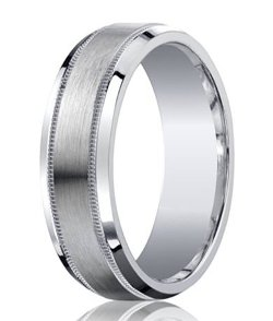 Justmensrings - Comfort Fit Argentium Wedding Ring