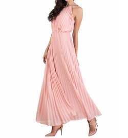 Choies - Cut Away Pleated Maxi Dress