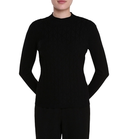 Allison Daley - Mock Neck Long Sleeve Pullover