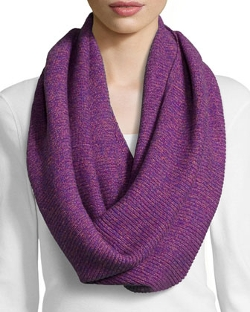 Todd and Duncan - Cashmere Marbled Knit Eternity Scarf