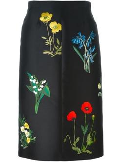 Stella Mccartney   - Floral Embroidered Skirt