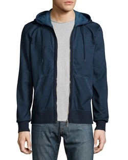 John Varvatos Star USA - Cold-Dye Zip-Front Hoodie