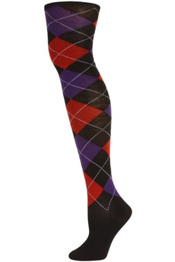 US Hosiery - Julietta Argyle Over The Knee Socks