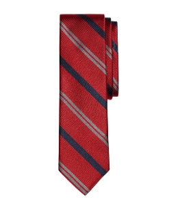 Brooks Brothers - Alternating Stripe Slim Tie