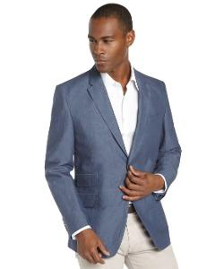 Tommy Hilfiger  - Linen and Cotton 2-button Blazer