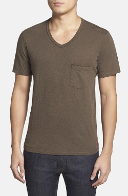 7 For All Mankind - Raw Edge V-Neck T-Shirt