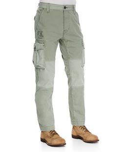 True Religion  - Twill Cargo Pants, Olive