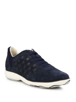 Geox  - Nebula Suede Intersect Sneakers