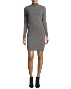 Neiman Marcus Cashmere Collection - Cashmere Long-Sleeve Turtleneck Dress