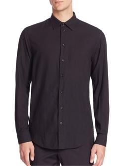 Armani Collezioni  - Textured Sportshirt