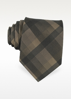 Forzieri  - Plaid Print Silk Tie