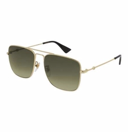 Gucci  - Polarized Square Aviator Sunglasses