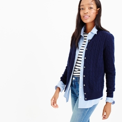 J.Crew - Petite Cambridge Cable Cardigan Sweater