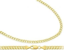 Jewel Tie - Cuban Chain Curb Necklace