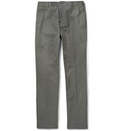 Thom Browne   - Slim-Fit Cotton-Twill Chino Pants