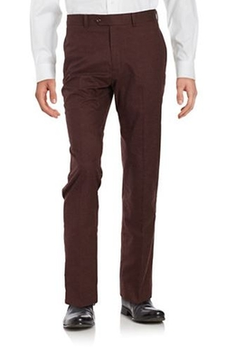 Tallia Orange  - Slim Fit Flat Front Pants