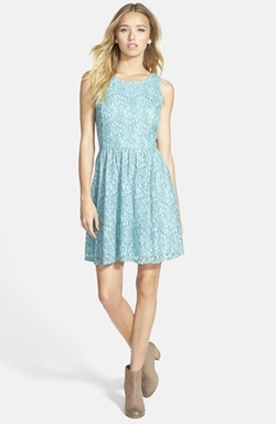 Frenchi - V-Back Lace Skater Dress