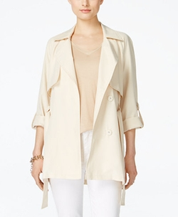 Jessica Simpson - Seychelles Three-Quarter-Sleeve Trench Coat