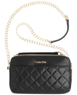 Calvin Klein - Quilted Leather Convertible Crossbody Bag