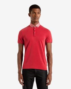 Teknow - Woven Collar Polo Shirt