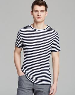 Theory  - Andrion Zephyr Q Stripe Tee