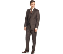 Lauren Ralph Lauren  - Slim-Fit Brown Stripe Vested Suit