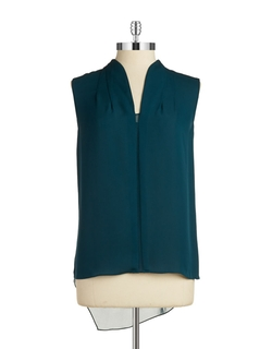 Elie Tahari - Sleeveless Silk Hi-Lo Blouse