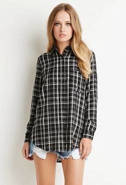 Forever 21 - Tartan Plaid Pocket Shirt