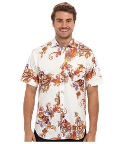 Thomas Dean & Co.  - Exploded Paisley Print Button Down Shirt